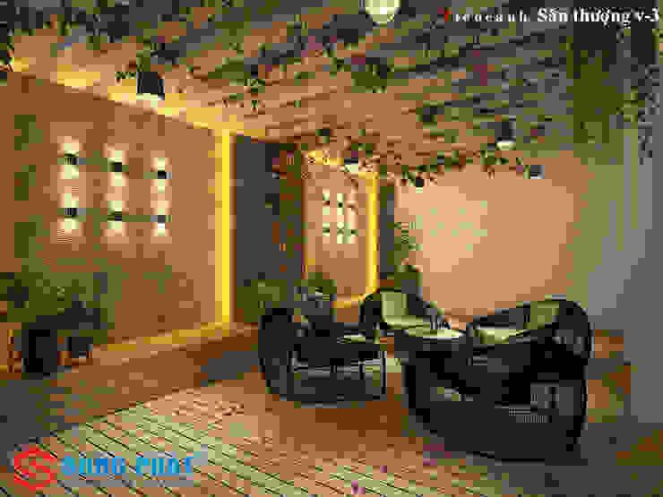 和風の 玄関&廊下&階段 の Công ty Thiết Kế Xây Dựng Song Phát 和風