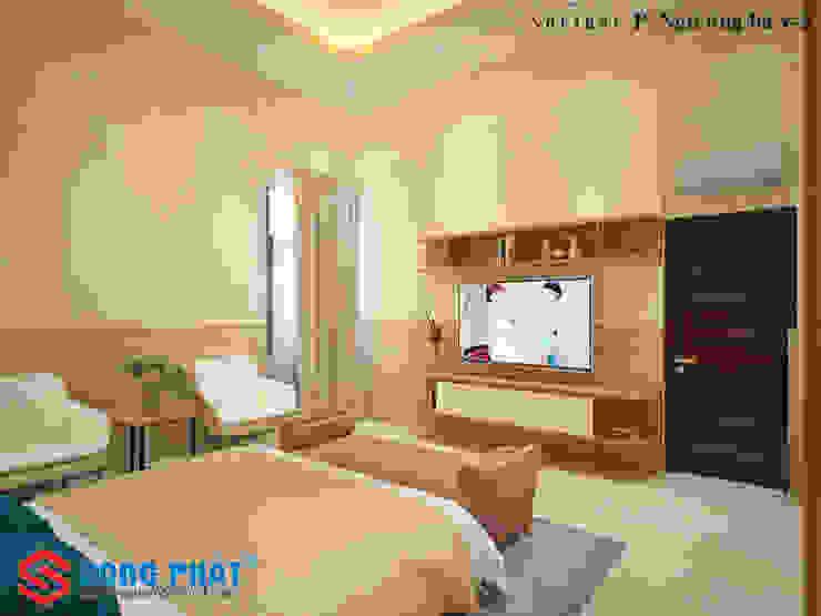 Dormitorios asiáticos de Công ty Thiết Kế Xây Dựng Song Phát Asiático