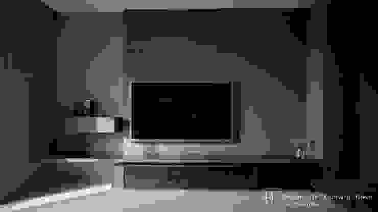 Living room / 客 廳 现代客厅設計點子、靈感 & 圖片 根據 SECONDstudio 現代風 石板
