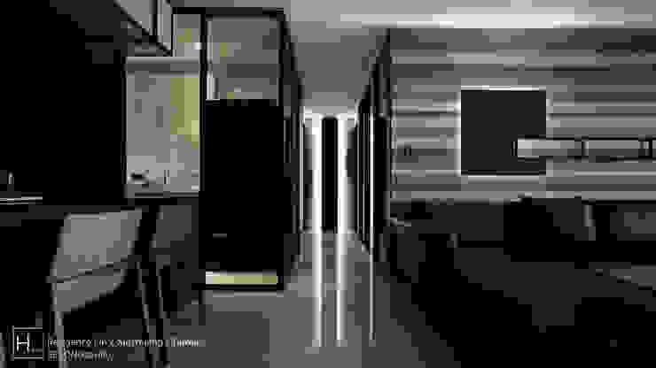 Living room / 客 廳 現代風玄關、走廊與階梯 根據 SECONDstudio 現代風 金屬