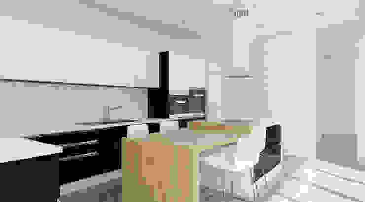 Cocina Cocinas de estilo moderno de A3D INFOGRAFIA Moderno