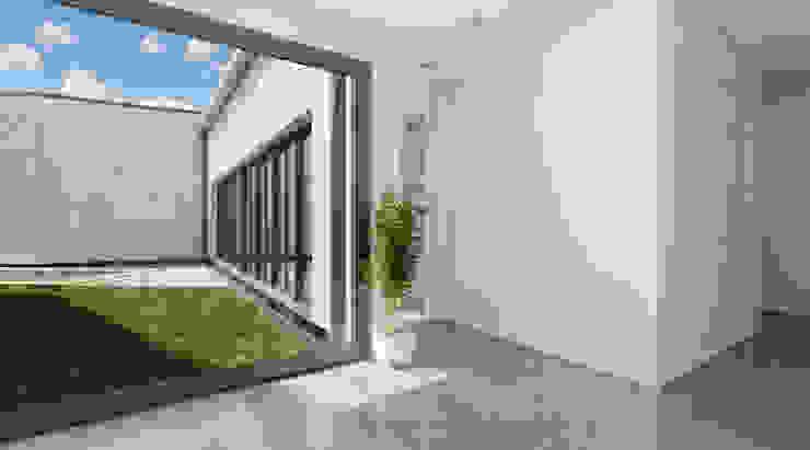 Vestíbulo Pasillos, vestíbulos y escaleras de estilo moderno de A3D INFOGRAFIA Moderno