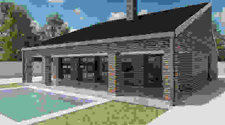 Exterior vivienda _ vista 1 de A3D INFOGRAFIA Moderno