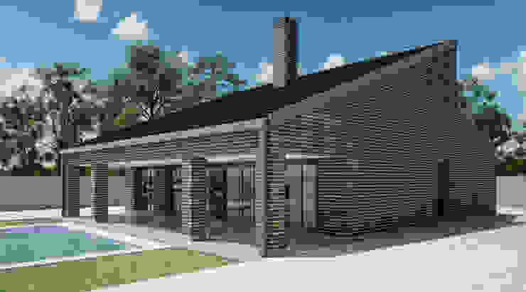 Exterior vivienda _ vista 2 de A3D INFOGRAFIA Moderno