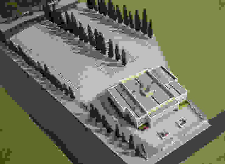 Vista aérea del complejo de A3D INFOGRAFIA Moderno