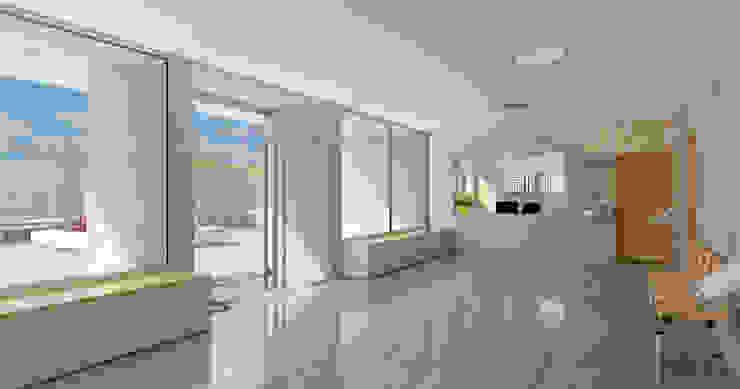 Hall _ vista 1 A3D INFOGRAFIA Pasillos, vestíbulos y escaleras modernos