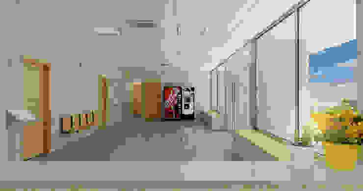 Hall _ vista 2 A3D INFOGRAFIA Pasillos, vestíbulos y escaleras modernos