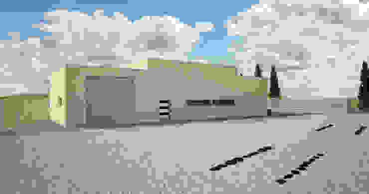 Fachada trasera _ vista 2 de A3D INFOGRAFIA Moderno