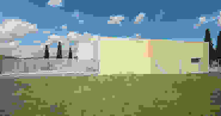 Fachada lateral de A3D INFOGRAFIA Moderno