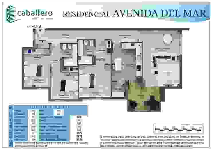 Plano vivienda tipo A de A3D INFOGRAFIA