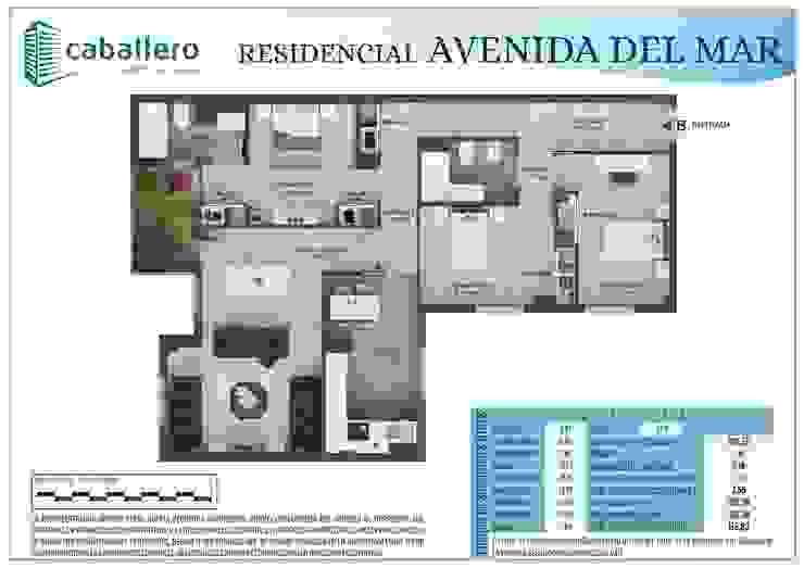 Plano vivienda tipo B de A3D INFOGRAFIA