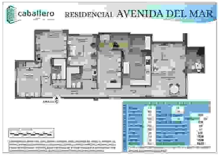 Plano vivienda tipo C de A3D INFOGRAFIA
