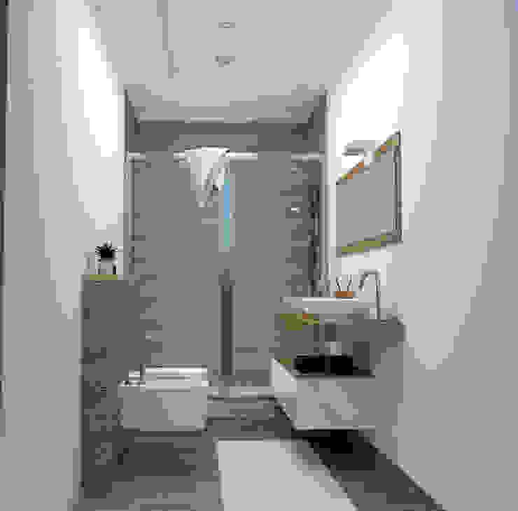 BAGNO PICCOLO MA NEL SUO INSIEME COMPLETO IN STILE MINIMALISTA Lambda Design Bagno minimalista