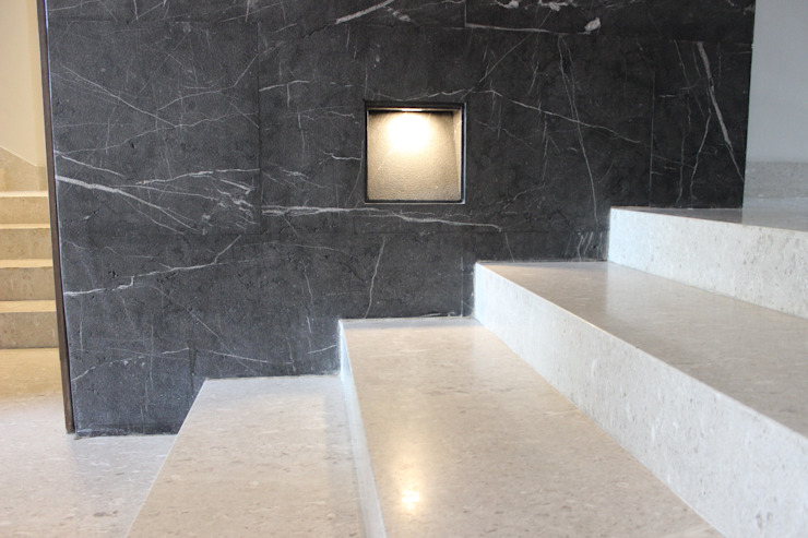 PROYECTO PISO CASA RIO MADEIRA Modern Study Room and Home Office by YACARE MARMOLES Modern Marble