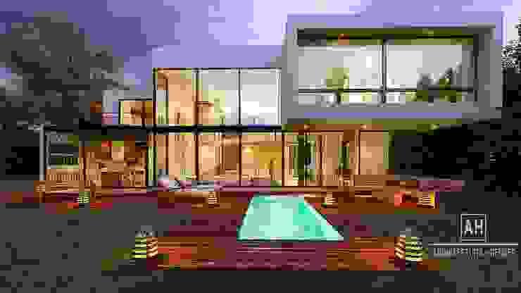 Maison individuelle de style  par ah arquitectura + render,