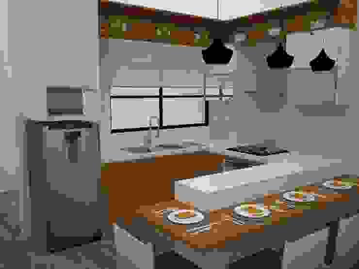 Cocina Integrada de SindiyFiorella Moderno