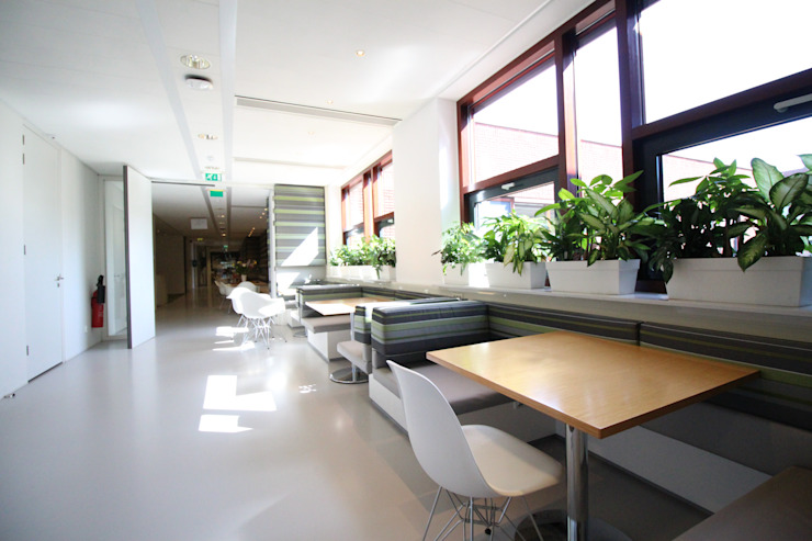Lichtgrijze PU Mono gietvloer bij Zorgbalans in Haarlem Moderne gezondheidscentra van Motion Gietvloeren Modern Kunststof