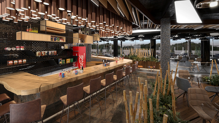 Salas de jantar modernas por Dündar Design - Mimari Görselleştirme Moderno