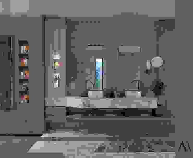 Murat Aksel Architecture Modern Bathroom Marble Green