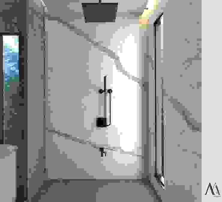Murat Aksel Architecture Modern Bathroom Marble White
