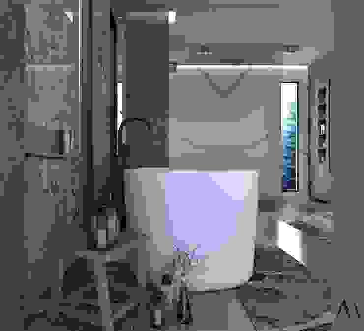 Murat Aksel Architecture Modern Bathroom White