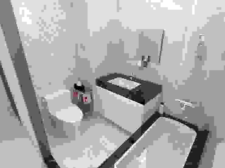 浴室Render1: 極簡主義  by 並聯建築科技有限公司, 簡約風 大理石