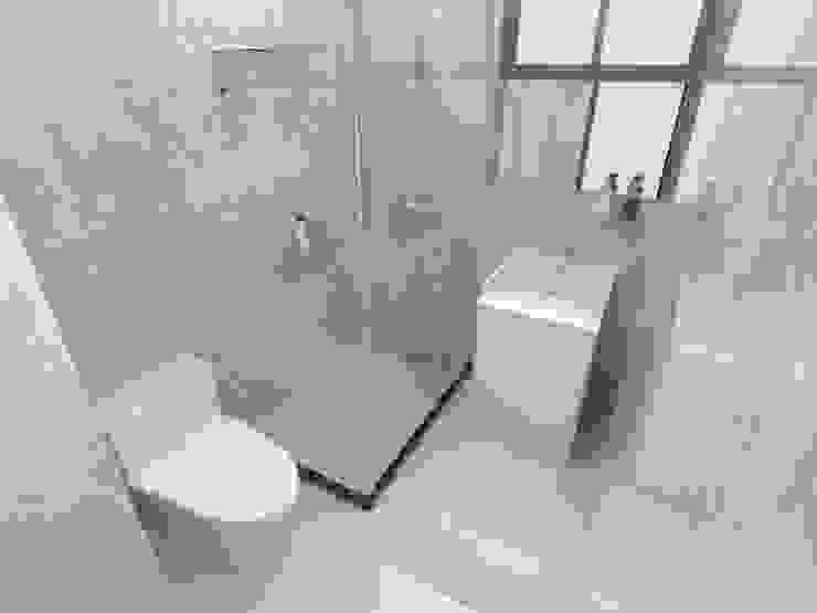 浴室Render3: 極簡主義  by 並聯建築科技有限公司, 簡約風