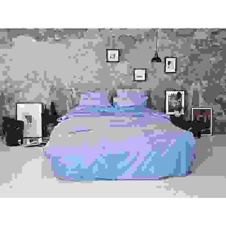 Sateen Duvet Set - Light Blue: scandinavian  by Bedroommood, Scandinavian Cotton Red