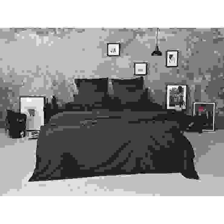 Sateen Duvet Set - Dark Grey: scandinavian  by Bedroommood, Scandinavian Cotton Red
