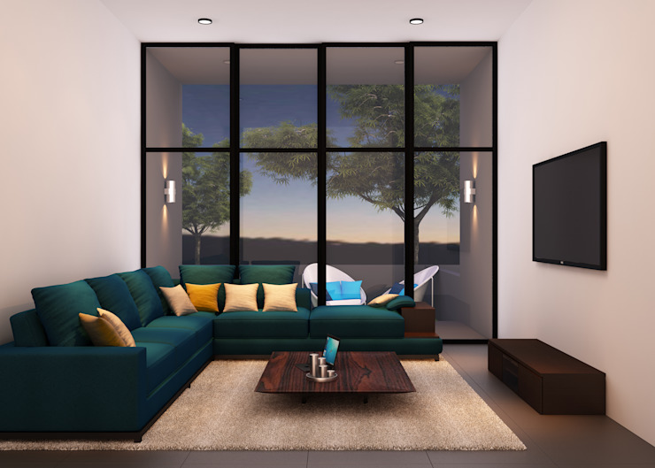 A duplex Villa Minimalist living room by Ashleys Minimalist
