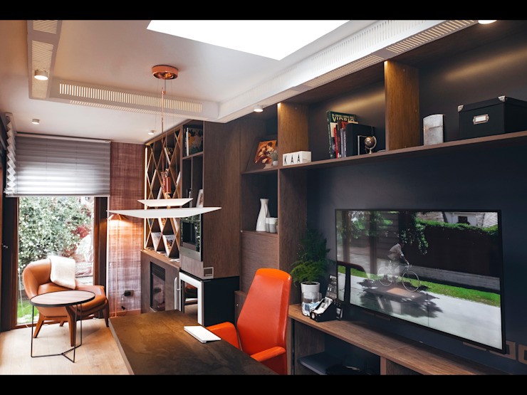 Modern style study/office by Kaa Interior | Arquitectura de Interior | Santiago Modern Wood Wood effect
