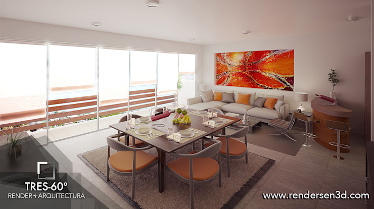 Living room by Tres-60 grados,
