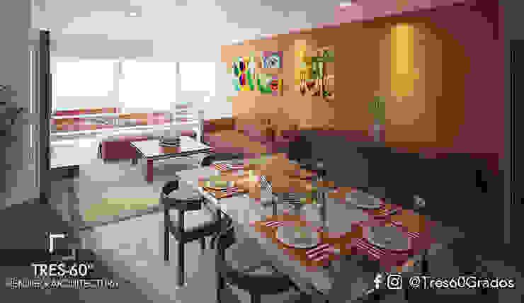 Modern dining room by Tres-60 grados Modern