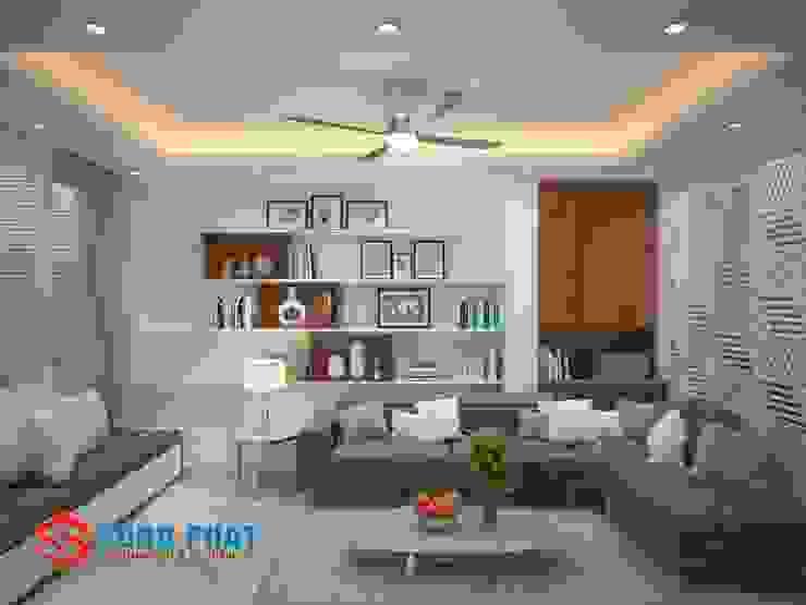 Salas de estilo asiático de Công ty TNHH TK XD Song Phát Asiático Tablero DM