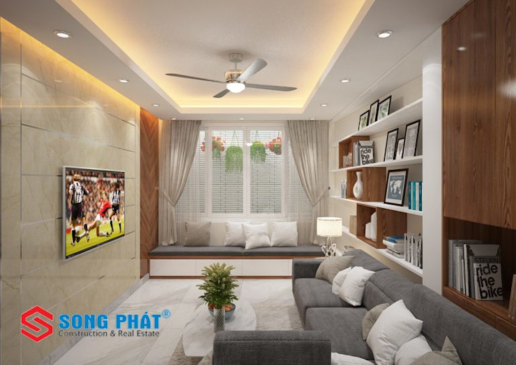 Salas de estilo asiático de Công ty TNHH TK XD Song Phát Asiático Plástico