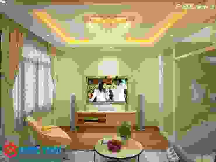 Salas de estilo asiático de Công ty TNHH TK XD Song Phát Asiático Madera maciza Multicolor
