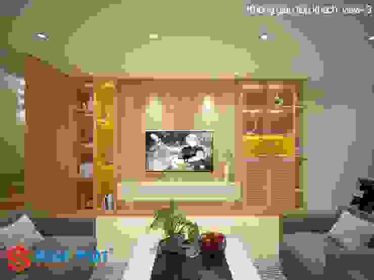 Salas de estilo asiático de Công ty TNHH TK XD Song Phát Asiático Mármol
