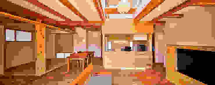 梶浦博昭環境建築設計事務所 Ruang Keluarga Gaya Skandinavia