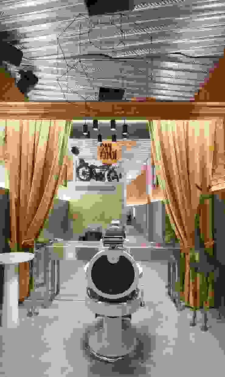 Barber's Club, ''The Razor Blade Project'' Espacios comerciales de estilo minimalista de Minimal Studio Minimalista