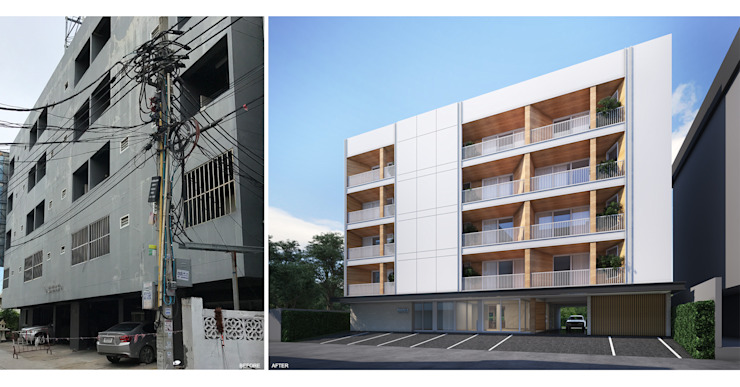 Manis Apartment โดย evodezign co.,ltd. ผสมผสาน
