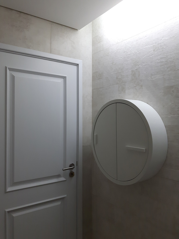 Bagno minimalista di Especial Destaque Minimalista Ceramica