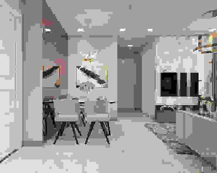 THIẾT KẾ NỘI THẤT CĂN HỘ VINHOMES GOLDEN RIVER – Xu hướng thiết kế vách ngăn Phòng ăn phong cách hiện đại bởi ICON INTERIOR Hiện đại