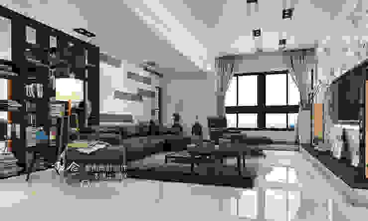 客廳/烤漆/人文休閒 现代客厅設計點子、靈感 & 圖片 根據 木博士團隊/動念室內設計制作 現代風 大理石