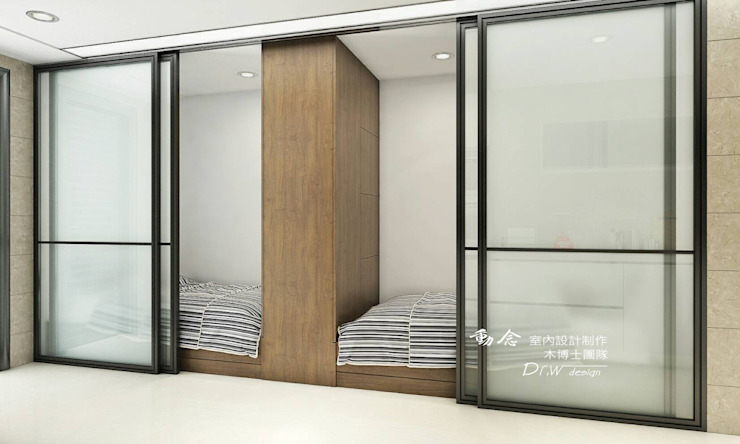 和室/臥室/拉門/人文休閒 根據 木博士團隊/動念室內設計制作 現代風 木頭 Wood effect