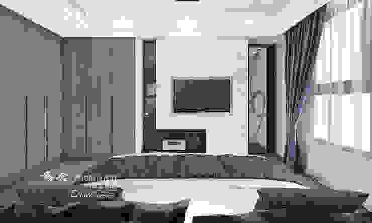 主臥室/臥室/電視牆/人文休閒 根據 木博士團隊/動念室內設計制作 現代風 大理石