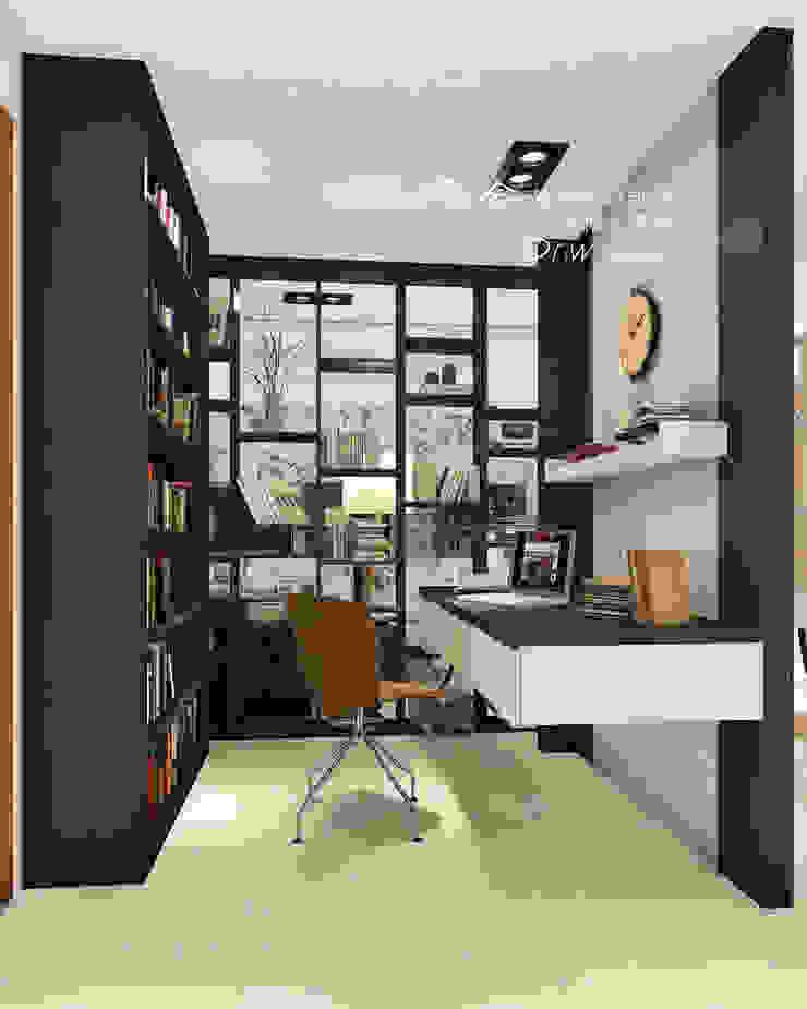 書房/人文休閒 根據 木博士團隊/動念室內設計制作 現代風 木頭 Wood effect