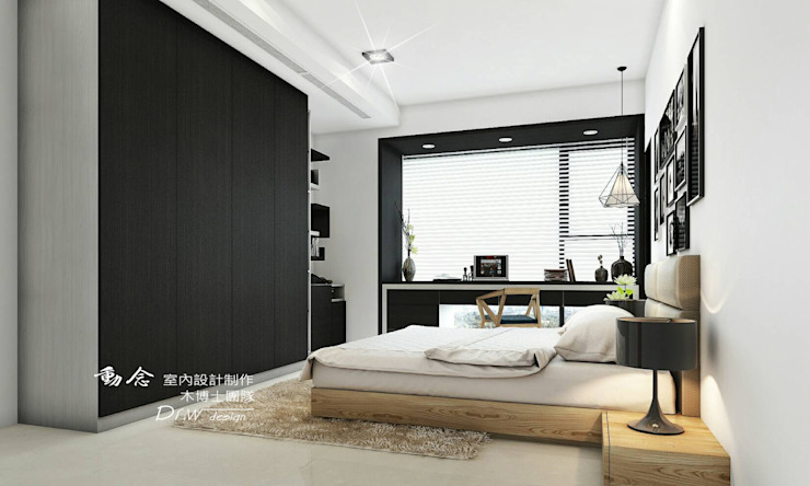 臥室/人文休閒 根據 木博士團隊/動念室內設計制作 現代風 木頭 Wood effect