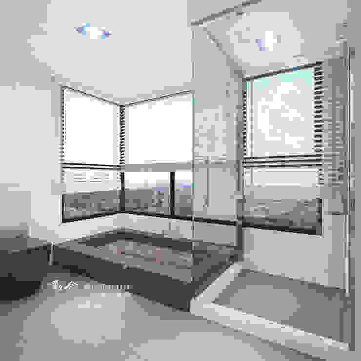 衛浴/人文休閒 現代浴室設計點子、靈感&圖片 根據 木博士團隊/動念室內設計制作 現代風 玻璃