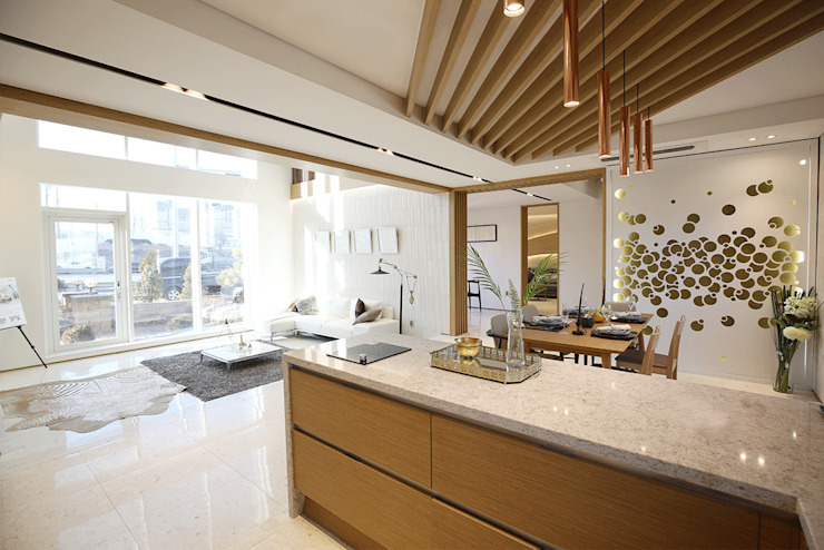 Built-in kitchens by 더존하우징, Modern