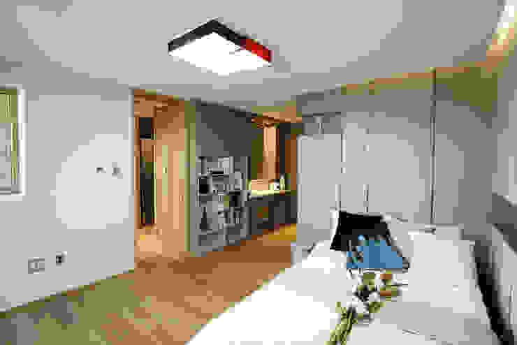 2F 가족룸&개인 공간 모던스타일 침실 by 더존하우징 모던